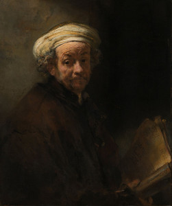 Painting by Rembrandt – Self Portrait as the Apostle Paul